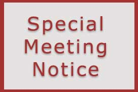 Special Meeting Notice – March 2nd, 2021
